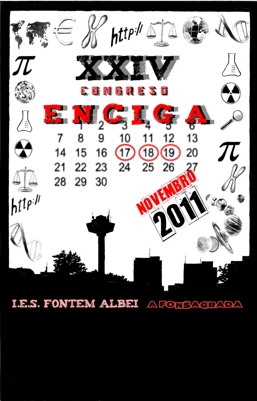 Cartel do XXIV Congreso de ENCIGA